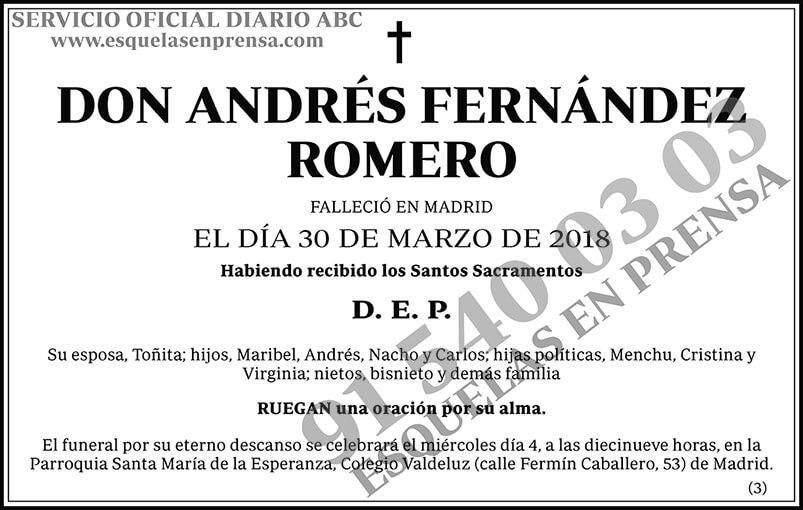 Andrés Fernández Romero